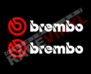 Pegatinas para moto Logo Brembo