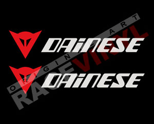 Pegatinas para motos con logotipos de Dainese