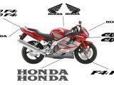 Esquema Pegatinas para Carenado Honda CBR 600 F4i 01-06