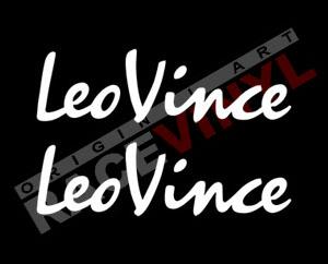 Pegatinas para motos con los logos Leovince