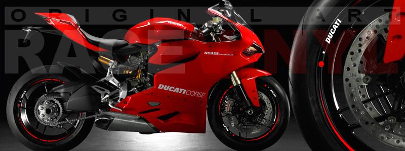 Racevinyl Ducati Streetfighter vinilo llanta rueda pegatina adhesivo rojo