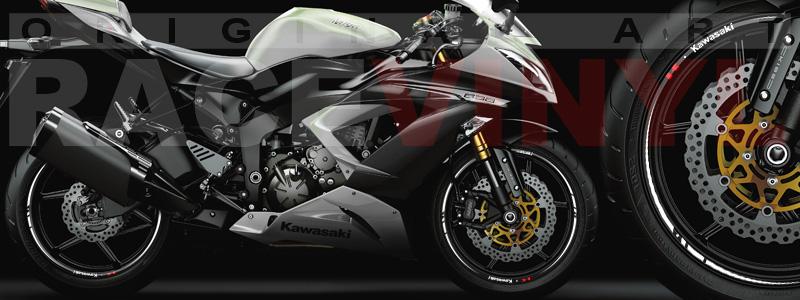 Racevinyl Race Kawasaki ZX6R 636 blanco