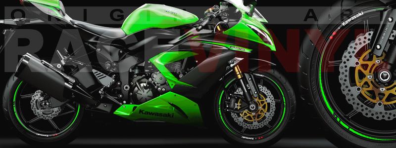 Racevinyl Race Kawasaki ZX6R 636 verde