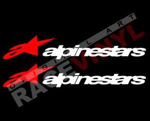 Pegatinas con logotipos alpinestar