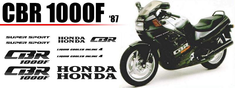 Kit de vinilos para carenado de Honda CBR 1000F 1987