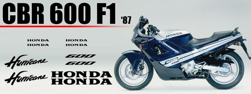 Kit de vinilos para carenado de Honda CBR 600 F1 1987
