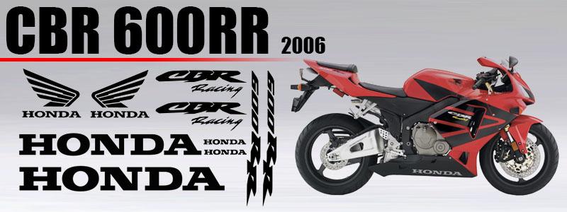 Kit de vinilos para carenado de Honda CBR 600 RR 2006
