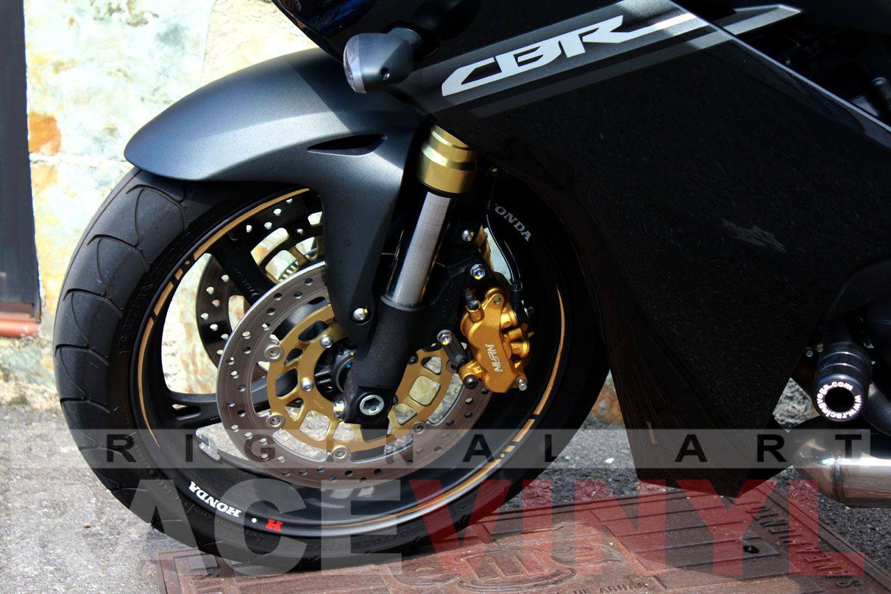 Honda CBR 600 F 2012 Adhesivos Race Dorado Racevinyl Javier Garcia Cela