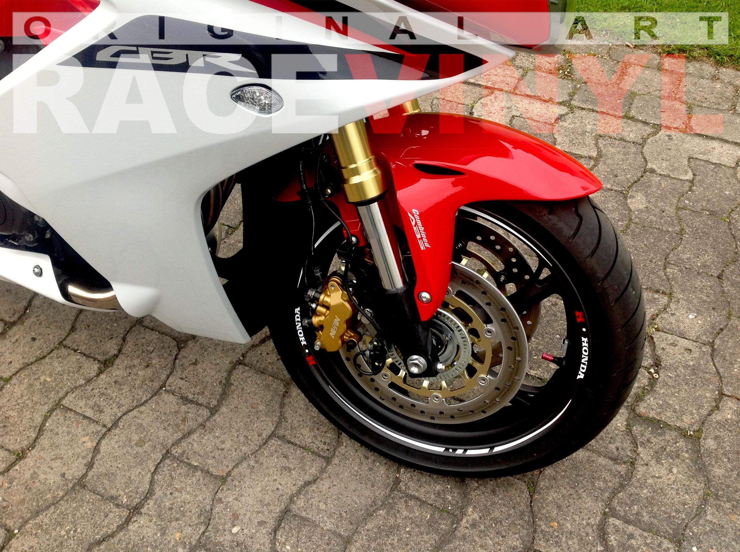 Honda CBR 600 F 2012 Adhesivos Race Blanco con Logo de Honda Racevinyl