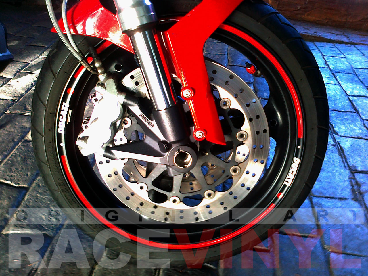 Ducati Monster Adhesivos Genericos Rojo con Logotipo Ducati