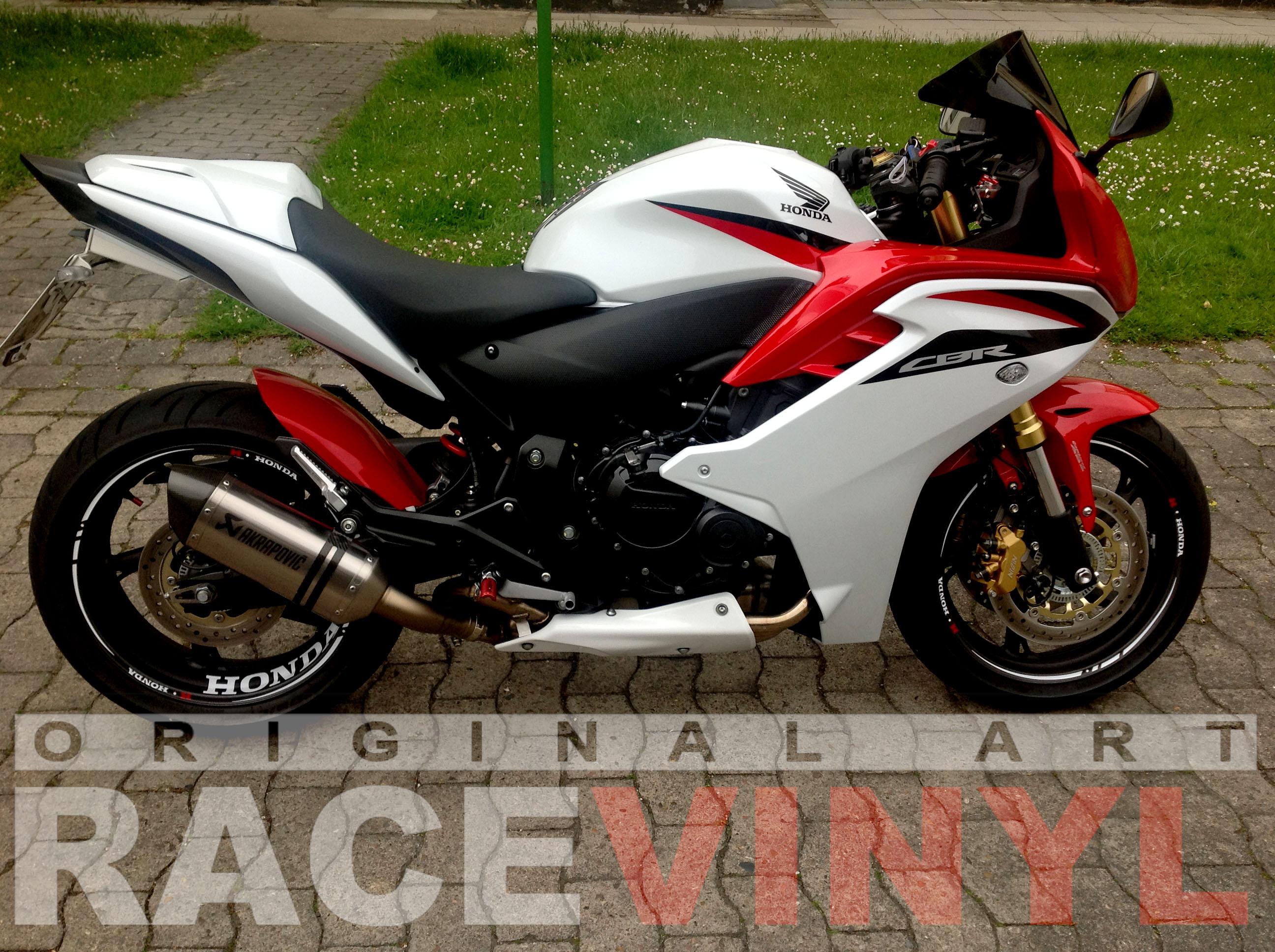 Vinilos para el perfil de las llantas de motos Honda CBR600F