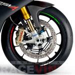 Pegatinas para llantas de moto diseño Italia
