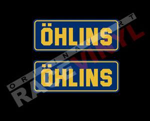 Pegatinas para motos con los logos Ohlins