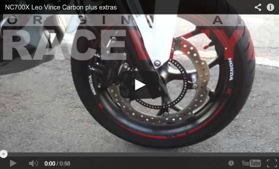 Video de los adhesivos Race en una Honda NC700X