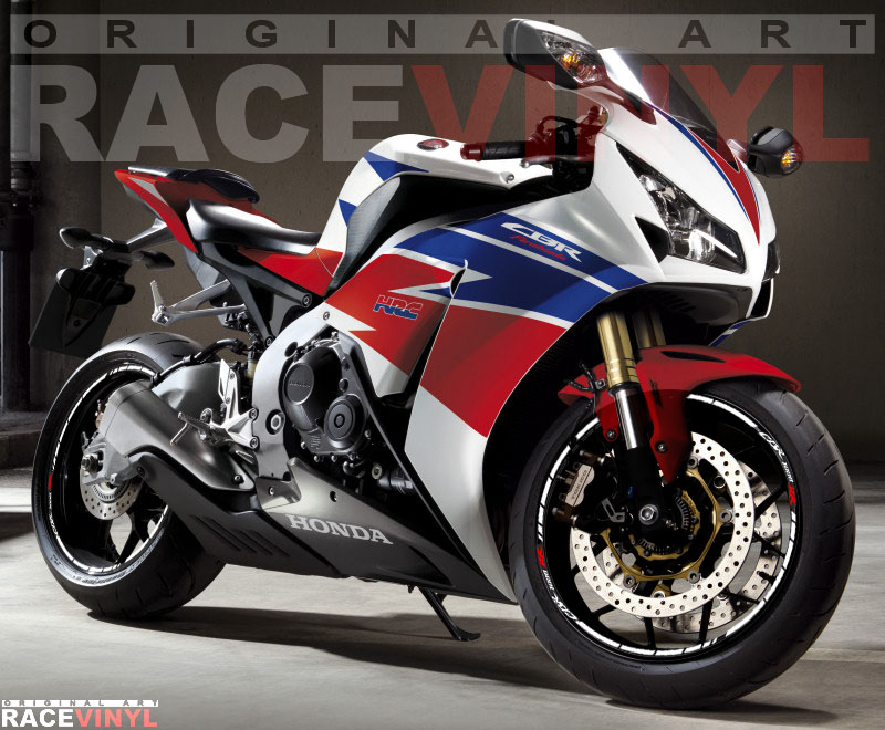 Vinilos para el perfil de las llantas de motos Honda CBR1000RR
