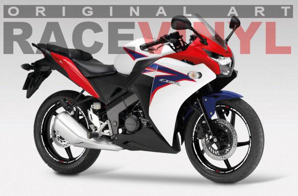 Vinilos para el perfil de las llantas de motos Honda CBR125R