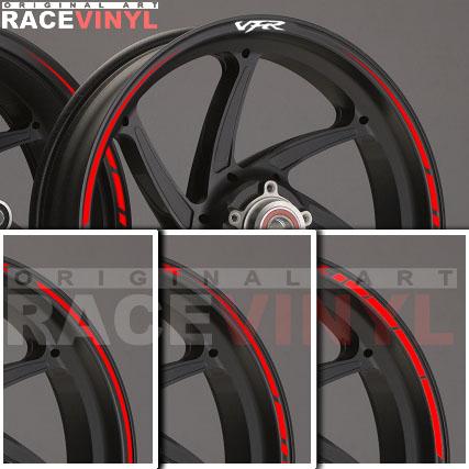 Principal Honda VFR adhesivo pegatina vinilo llanta rueda moto sticker vinyl rim stripe