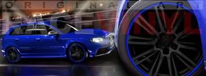 Racevinyl Audi A3 RS3 S3 Vinilo vinyl rim azul