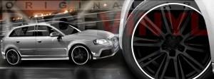 Racevinyl Audi A3 RS3 S3 Vinilo vinyl rim blanco