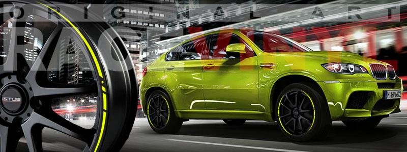BMW X5 con los adhesivos Race para Coches
