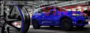 Racevinyl BMW 1 3 5 7 6 8 m3 m5 x5 x3 vinilo vinyl azul