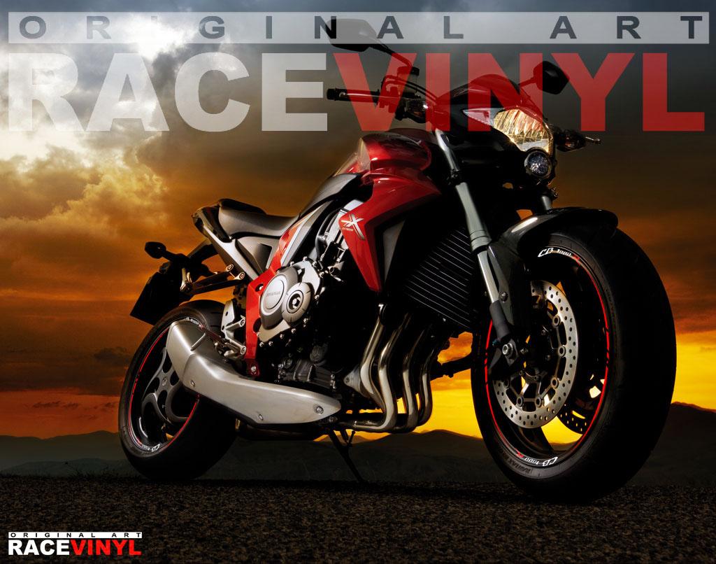 Vinilos para el perfil de las llantas de motos Honda CB1000R