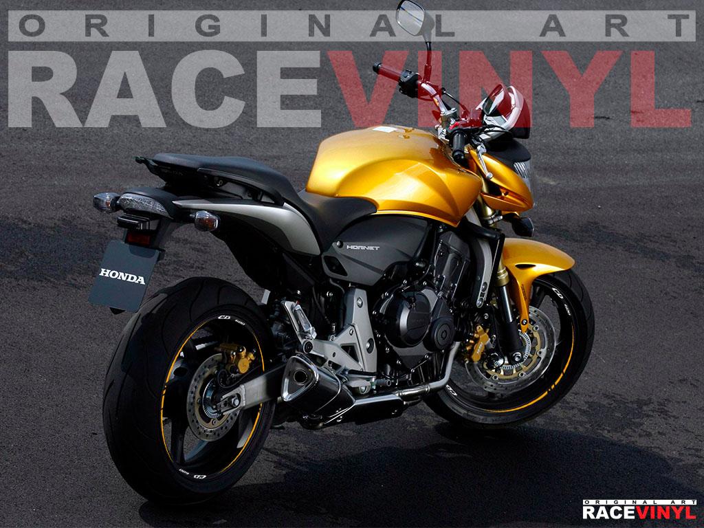 Vinilos para el perfil de las llantas de motos Honda CB600 Hornet