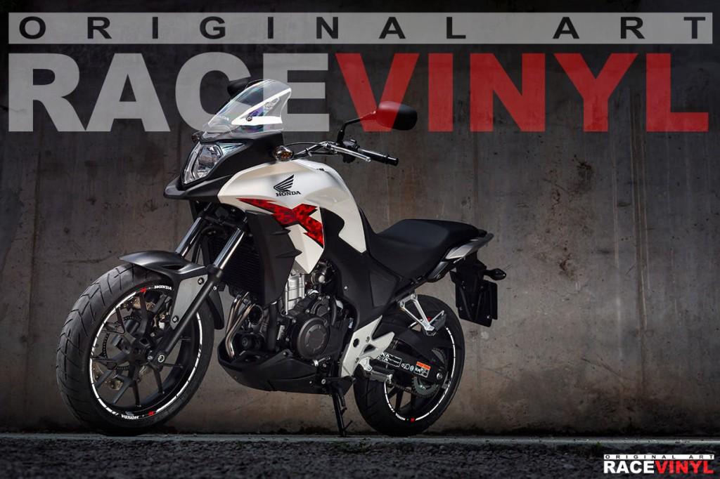 Racevinyl Honda CB 500 X CB500X F CB500F Rim Sticker vinyl pegatina adhesivo llanta rueda moto SPEED con logotipo 01