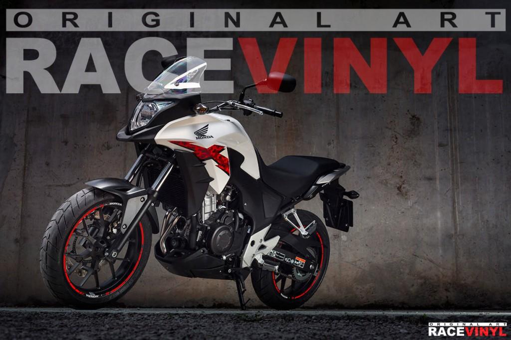 Racevinyl Honda CB 500 X CB500X F CB500F Rim Sticker vinyl pegatina adhesivo llanta rueda moto SPEED con logotipo 02