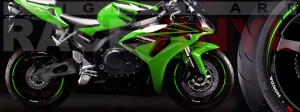 Racevinyl Honda CBR 600 RR vinyl rim wheel sticker stripe pegatina adhesivo llanta rueda vinilo verde green