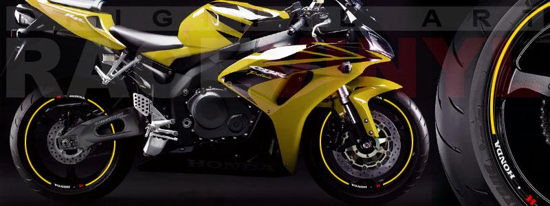 Racevinyl Honda generico logo CBR 600 RR amarillo