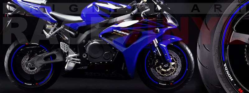 Racevinyl Honda generico logo CBR 600 RR azul