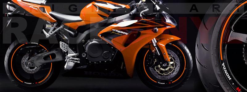 Racevinyl Honda generico logo CBR 600 RR naranja