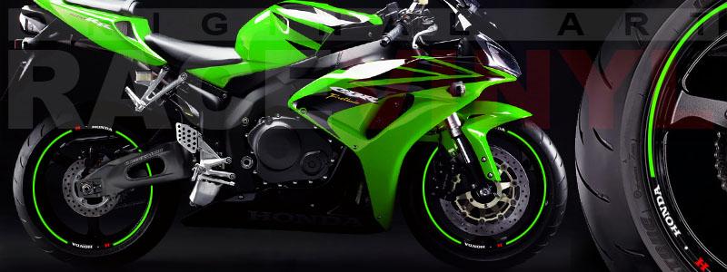 Racevinyl Honda generico logo CBR 600 RR verde