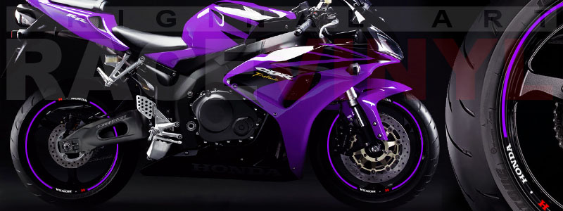 Racevinyl Honda generico logo CBR 600 RR violeta