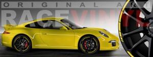 Racevinyl Porsche 911 carrera s cayenne panamera boxter vinilo amarillo