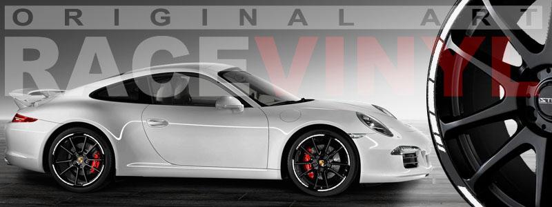 Porsche 911 carrera con los adhesivos SPEED de Racevinyl