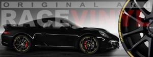 Racevinyl Porsche 911 carrera s cayenne panamera boxter vinilo dorado