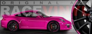 Racevinyl Porsche 911 carrera s cayenne panamera boxter vinilo rosa