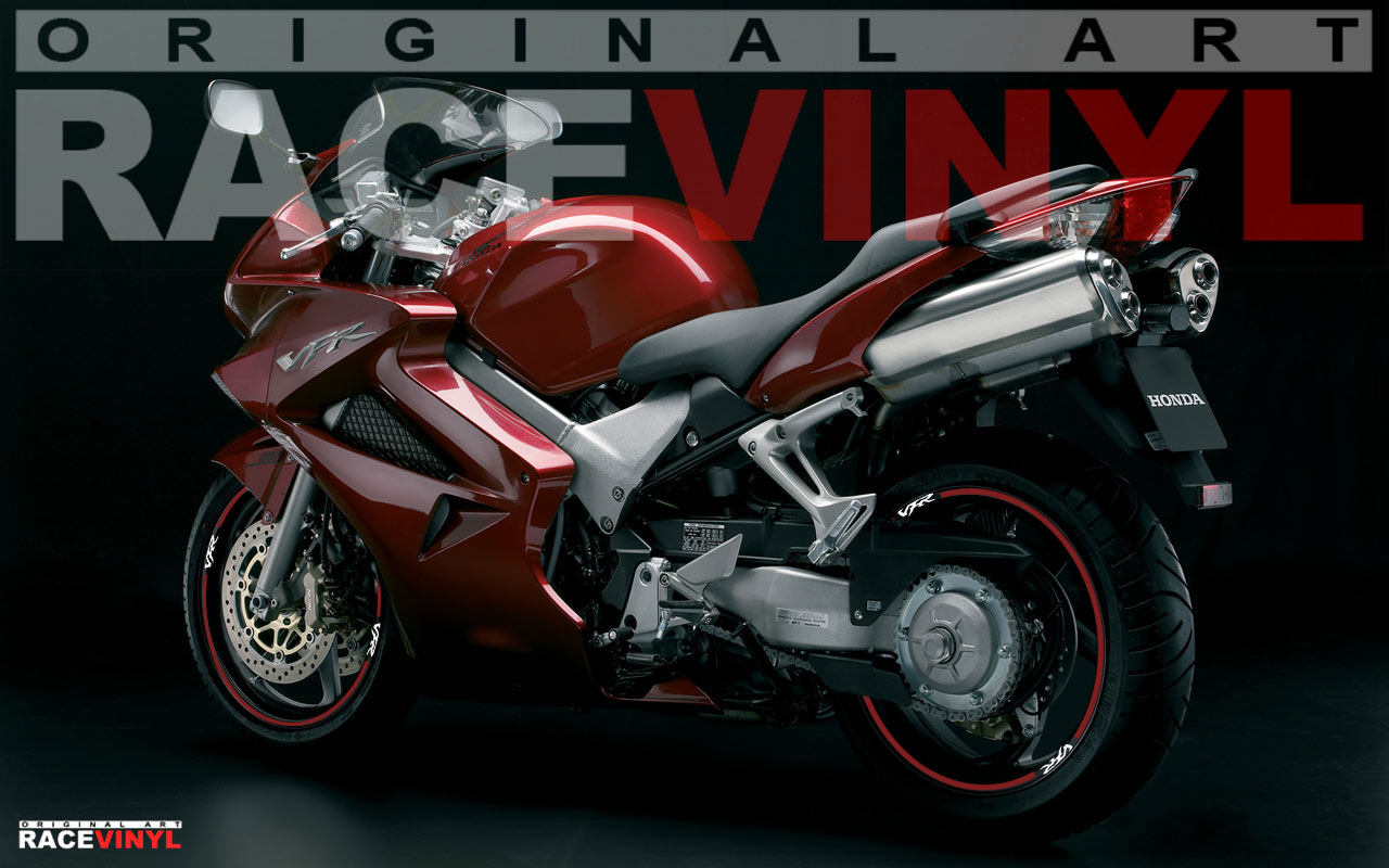 Racevinyl VFR 750 800 1200 Custom Tuning Pegatina llanta moto adhesivo vinilo sticker stripe rim wheel vinyl race logo