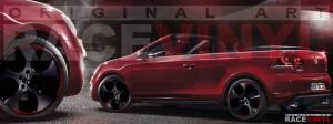 Racevinyl Volkswagen Golf GTI vinilo pegatina adhesivo Spire vinyl sticker llanta rueda burdeos