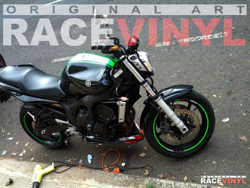 Racevinyl YAMAHA FZ6 n Rim Sticker vinyl pegatina adhesivo llanta rueda moto generica con logotipo 01