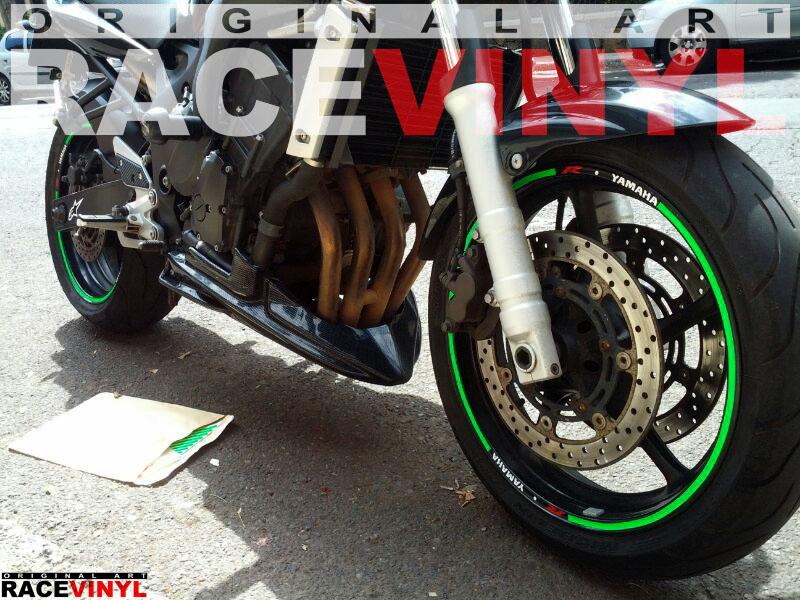 Racevinyl YAMAHA FZ6 n Rim Sticker vinyl pegatina adhesivo llanta rueda moto generica con logotipo 03