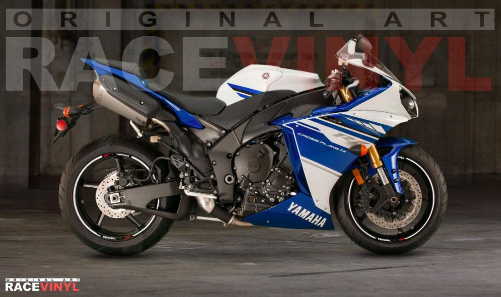Yamaha YZF R1 Adhesivos para llantas Racevinyl