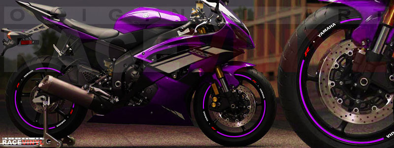Racevinyl Yamaha R6 sticker vinio adhesivo vinyl rim llanta violeta