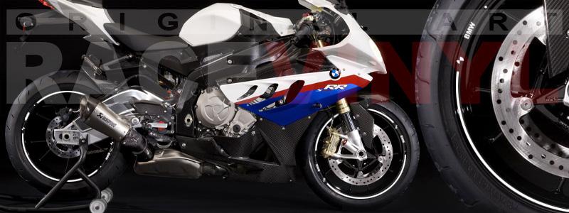 Racevinyl pegatinas llanta moto vinilo sticker rim wheel BMW S1000rr blanco