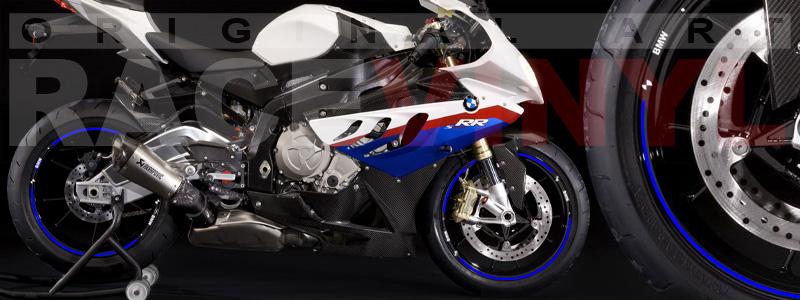 Racevinyl pegatinas llanta moto vinilo sticker rim wheel BMW S1000rr negro