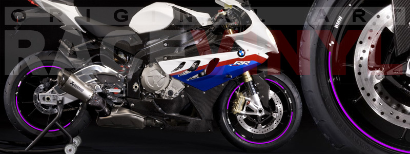 Racevinyl pegatinas llanta moto vinilo sticker rim wheel BMW S1000rr violeta