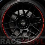Racevinyls vinilo pegatina adhesivo llanta rueda coche ROJO