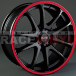 Kit Adhesivos para llantas en Vinilo Racevinyl modelo generico rojo